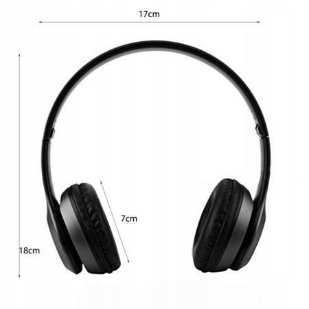 BEZPRZEWODOWE SŁUCHAWKI BLUETOOTH P47 MP3